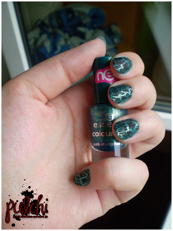 #0185 [NotD] Naildesign ~ Petrol Leo
