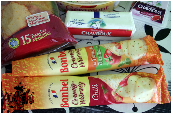Chavroux Ziegenfrischkäserolle || Bonbel à la Tomate & Basilikum || Bonbel Chili