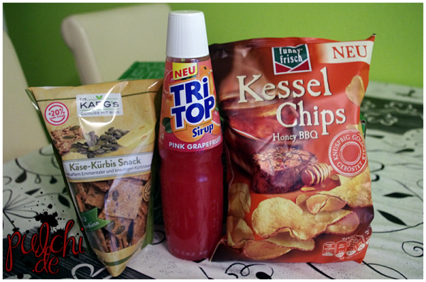 Dr. Karg's Knäcke-Snacks    TRi TOP Sirup Pink Grapefruit    funny-frisch Kessel Chips