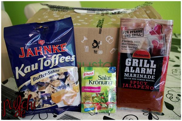 JAHNKE KauToffees Butter-Sahne || Knorr Salat Krönung Himbeer-Balsamico || Ostmann Grillmarinade Spicy Jalapeño