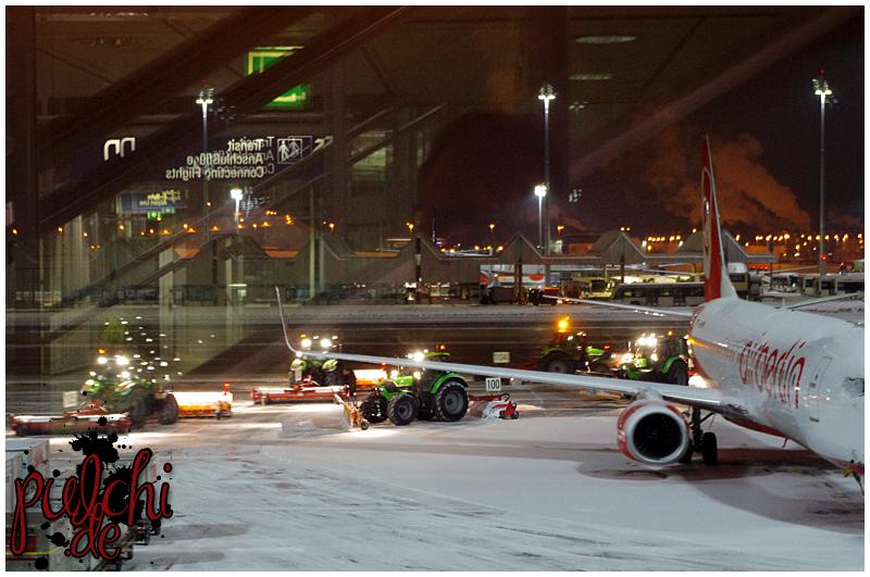 Wildes Treiben am Flughafen