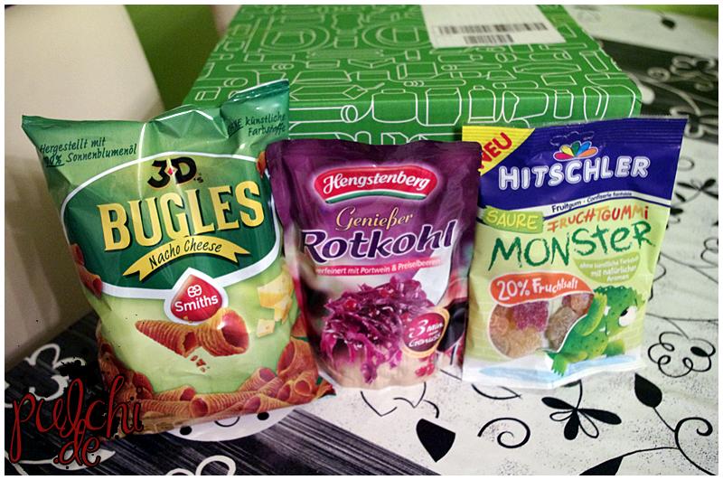 Bugles Nacho Cheese || Hengstenberg Genießer Rotkohl || hitschler Saure Fruchtgummi Monster