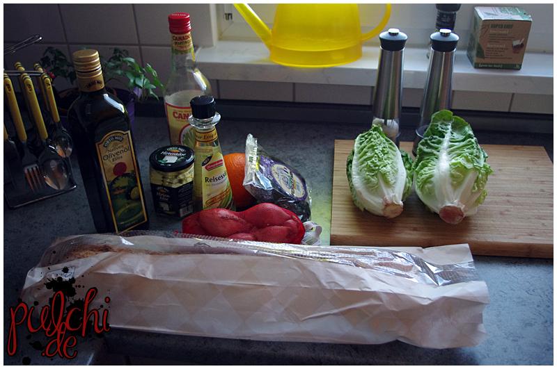 Salat mit Pruneau d'Agen und Schafskäse