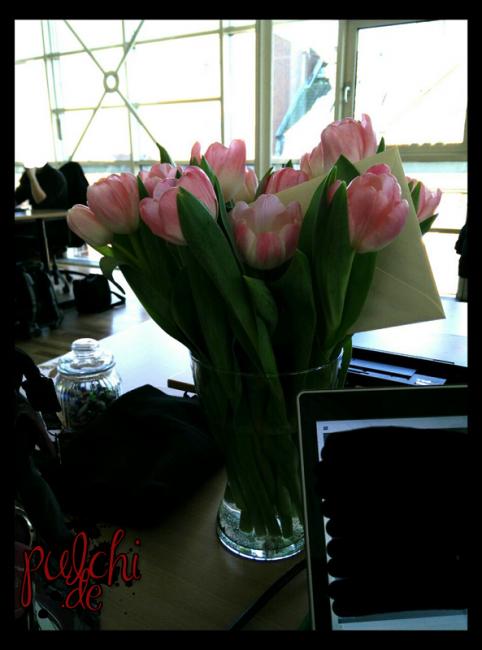 Blumen vom Chef