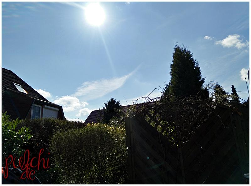 die Sonne auf der Terrasse genießen