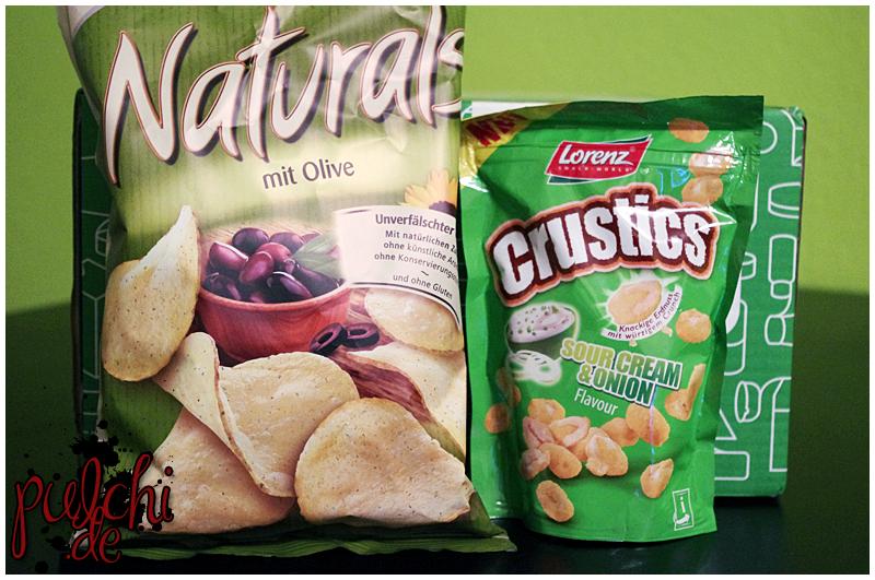 """Lorenz Snack-World Naturals """"mit Olive""""    Lorenz Snack-World Crustics """"Sour Cream & Onion"""""""
