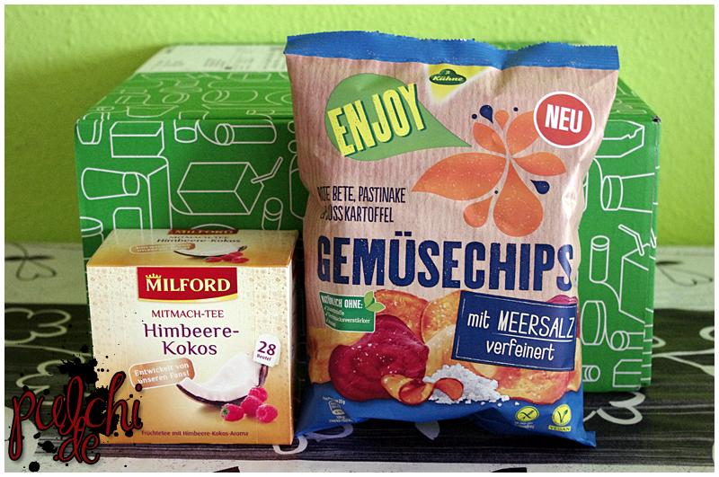 "MILFORD Himbeere-Kokos    Kühne Enjoy Gemüsechips ""mit Meersalz verfeinert"""