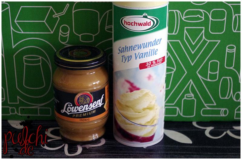 """Löwensenf Premium Honig-Senf    Hochwald Sahnewunder """"Typ Vanille"""""""