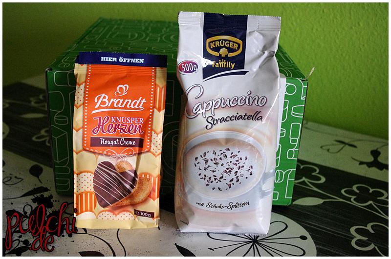 "Tika Artesan Chips ""Patagonia""    KRÜGER Family Cappuccino ""Stracciatella"""