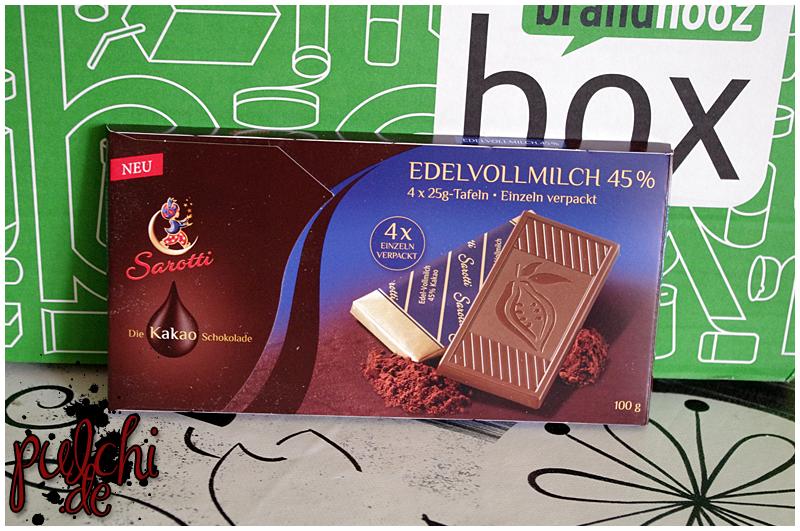 "SAROTTI Tafelschokolade ""Edelvollmilch"""