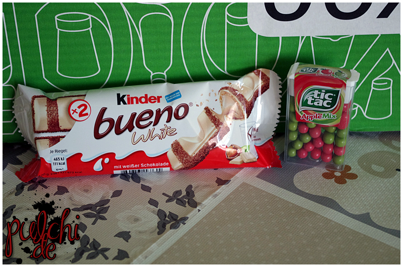 kinder bueno white || tic tac Apple Mix