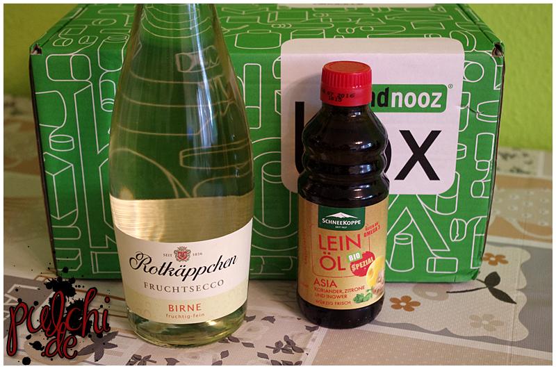 """Rotkäppchen Fruchtsecco """"Birne""""    Schneekoppe Bio Leinöl """"Asia"""""""