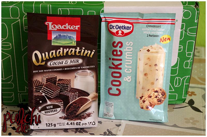 Loacker Quadratini Cacao & Milk    Dr. Oetker Cookies & Crumbs