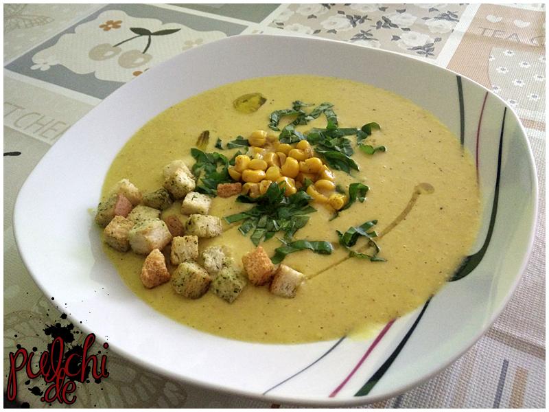 leckere Maissuppe essen <3