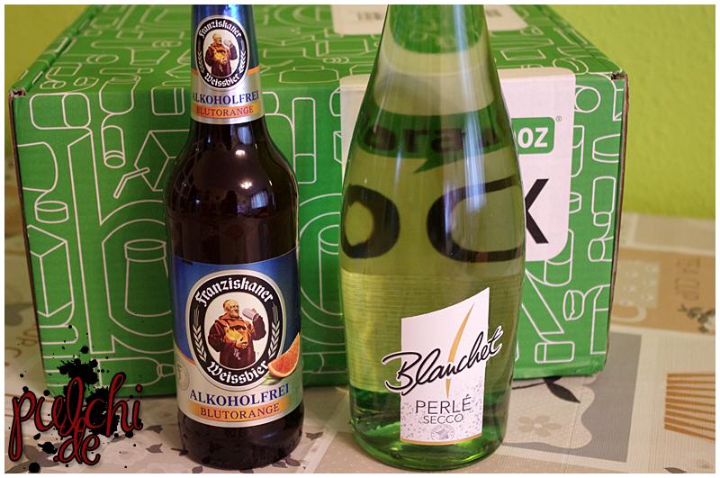 "Franziskaner Alkoholfrei ""Blutorange"" || Blanchet Perlé Secco"