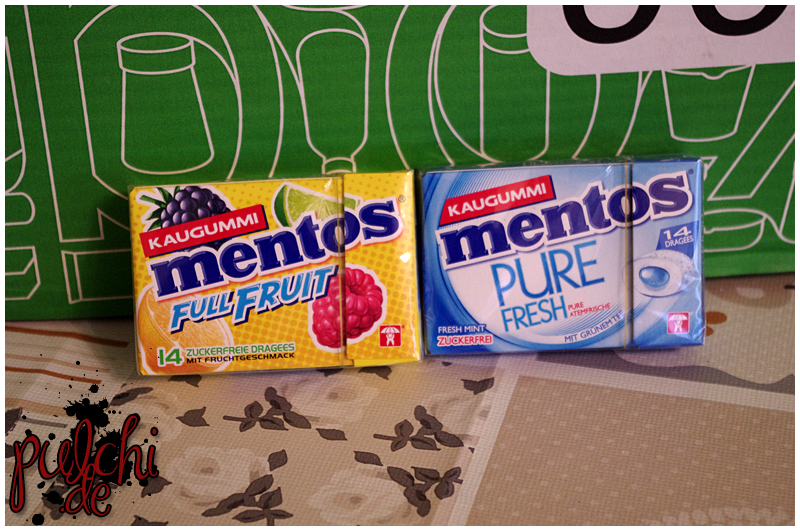 Mentos Kaugummi Full Fruit Pocketbox || Mentos Kaugummi Pure Fresh Mint Pocketbox