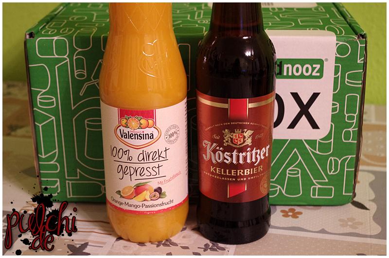 """Valensina 100% direkt gepresst """"Orange-Mango-Passionsfrucht""""    Köstritzer Kellerbier"""