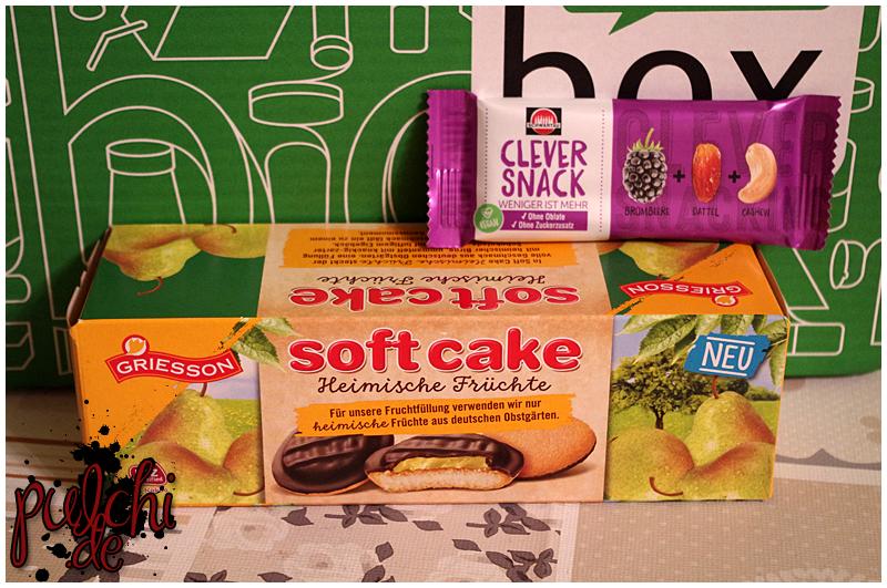 """Griesson Soft Cake Heimische Früchte """"Birne""""    Schwartau Clever Snack """"Brombeere-Dattel-Cashew"""""""