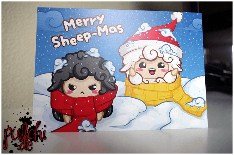 Merry Sheep-Mas Postkarte