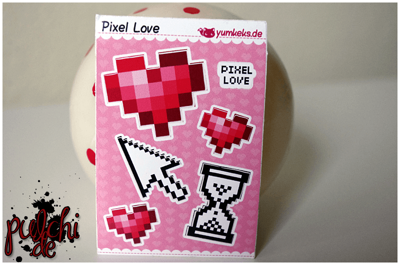 Pixel Love Sticker