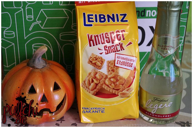 Leibniz Knusper Snack Karamellisierte Erdnüsse || Freixenet legero Alkoholfrei