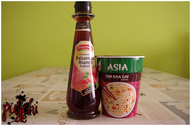 Hengstenberg Condimento Balsamico Bianco Erdbeere || Knorr Asia Tom Kha Gai Noodles