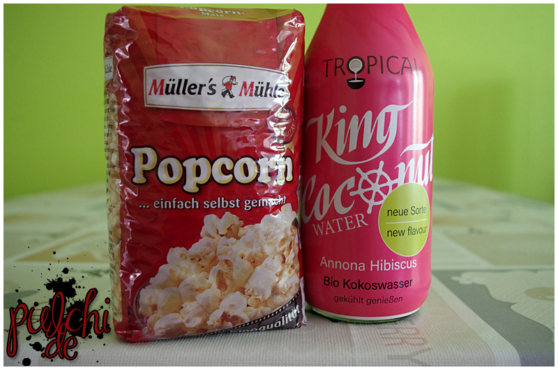 Müller's Mühle Popcorn || TROPICAI King Coconut Water Annona Hibiscus