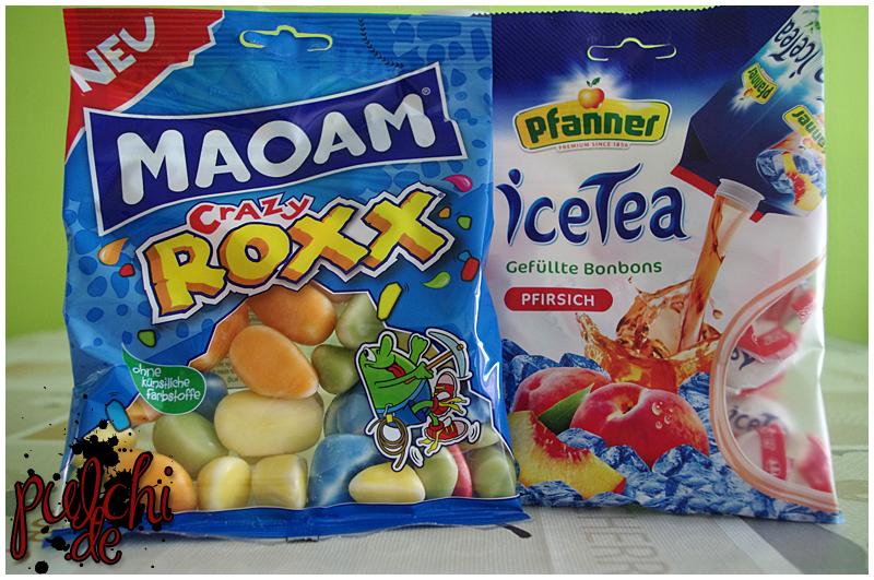 MAOAM Crazy Roxx || Pfanner iceTea Gefüllte Bonbons Pfirsich von Kaiser