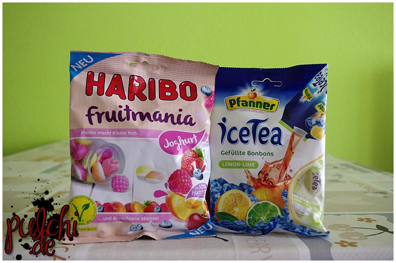 HARIBO Fruitmania Joghurt || Pfanner iceTea Gefüllte Bonbons Lemon-Lime von Kaiser