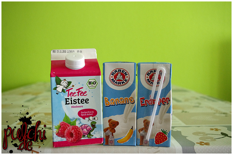 TeeFee Bio Eistee Himbeere || BÄRENMARKE Banane & Erdbeer
