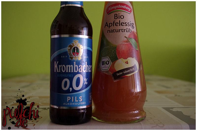 Krombacher o,0 % Pils || Hengstenberg BIO Apfelessig naturtrüb