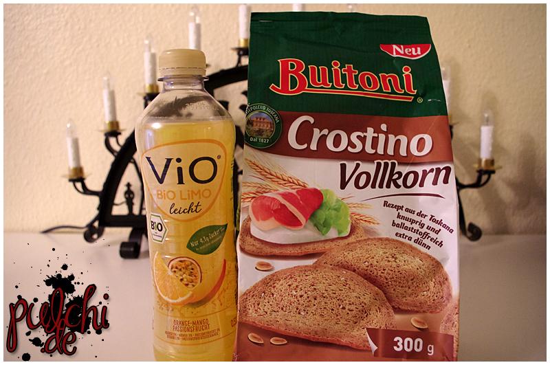 ViO BiO LiMO leicht Orange-Mango-Passionsfrucht || Buitoni Crostino Vollkorn