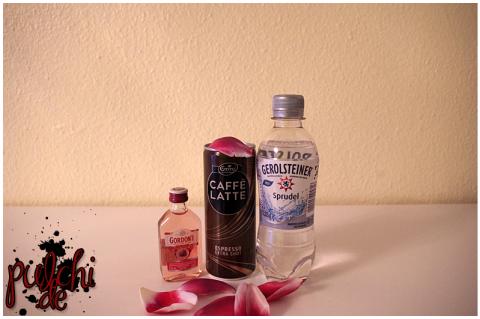 Gordon's Premium Pink || Emmi CAFFÈ LATTE || Gerolsteiner Sprudel