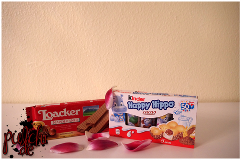 Loacker Classic Napolitaner || kinder Happy Hippo cacao