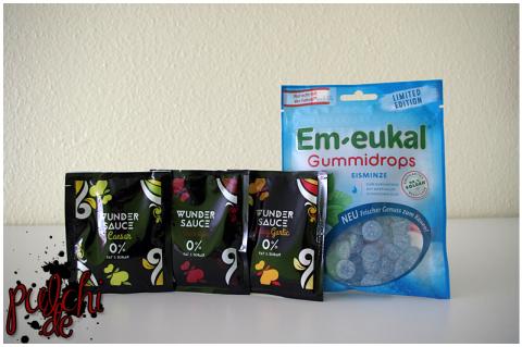 WunderSauce Barbeque, WunderSauce Caesar & WunderSauce Spicy Garlic || Em-eukal Gummidrops Eisminze