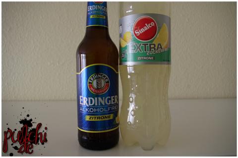 ERDINGER Alkoholfrei Zitrone || Sinalco EXTRA zuckerfrei Zitrone