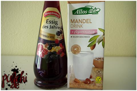 Hengstenberg Essig des Jahres Superfrüchte || Allos Mandel Drink