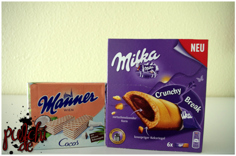 Manner Waffeln Cocos Schnitten || Milka Crunchy Break