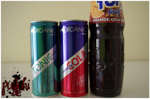 Organics by Red Bull Tonic Water || Organics by Red Bull Simply Cola || TRi TOP Sirup Orange-Cola-Mix