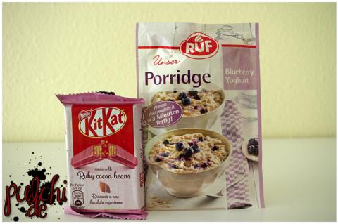 KitKat Ruby || RUF Unser Porridge Blueberry Yoghurt