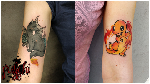 Fire Bat Cat & Glumanda vereint <3