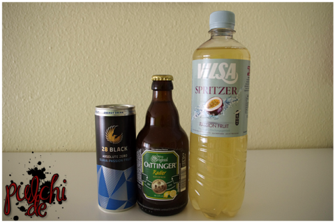 28 BLACK Absolute Zero Guava-Passion Fruit || OETTINGER Radler Naturtrüb || VILSA Spritzer Passion Fruit