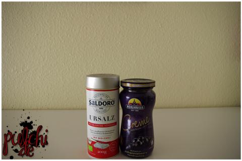 SALDORO Bio Chili Gewürzsalz || MÜHLHÄUSER Creme feinfruchtige Schwarze Johannisbeere