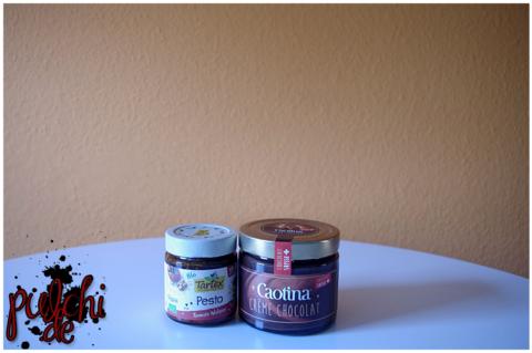 Allos Tartex Pesto Tomate Walnuss || Caotina Crème Chocolat