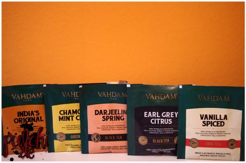 VAHDAM India's Original || VAHDAM Chamomile Mint Citrus || VAHDAM Darjeeling Spring || VAHDAM Earl Grey Citrus || VAHDAM Vanilla Spiced