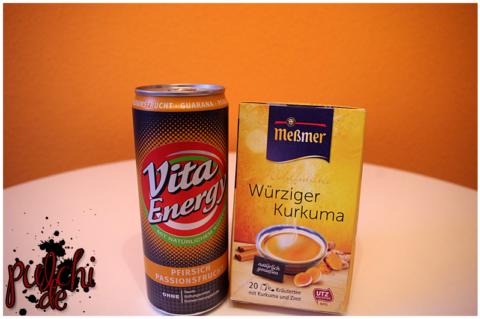 VITA ENERGY Pfirsich Passionsfrucht || Meßmer Wohlfühltee Würziger Kurkuma