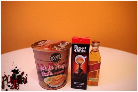 FOODSTER Potato Pumpkin Mash    Ferrero Pocket Coffee    Johnnie Walker Red Label