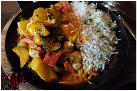 Hähnchen-Curry-Pfanne