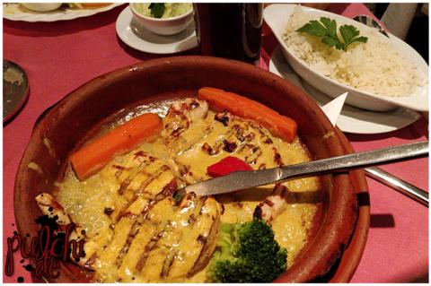Hähnchenbrust in Currysauce