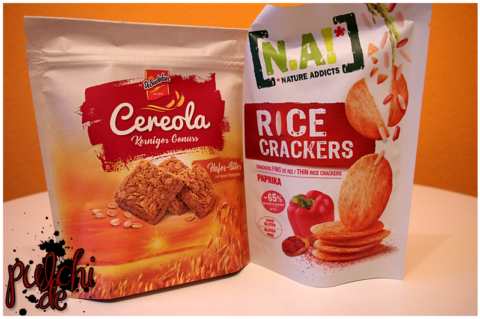 DeBeukelaer Cereola Hafer-Bites || N.A! Rice Crackers Paprika